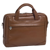 McKlein Bridgeport Large Leather Laptop Briefcase