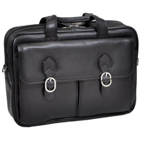 McKlein Hyde Park Double Compartment Leather Laptop Case