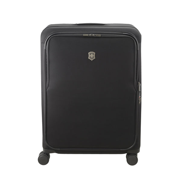 Victorinox Connex Large Softside Upright Spinner Luggage - Black