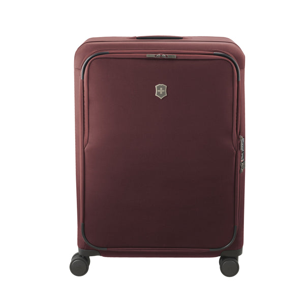 Victorinox Connex Large Softside Upright Spinner Luggage - Burgundy
