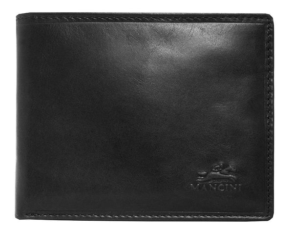 Mancini BOULDER Men's RFID Secure Billfold with Removable Passcase - Black