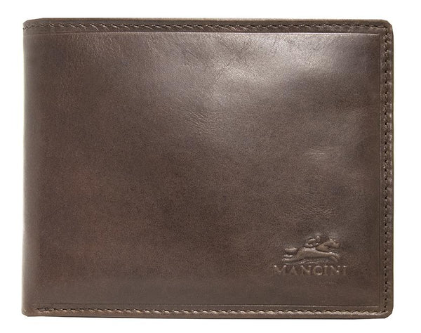 Mancini BOULDER Men's RFID Secure Billfold with Removable Passcase - Brown
