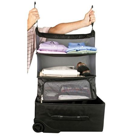 Travelon Deluxe Packable Shelves with Zippered Compartment