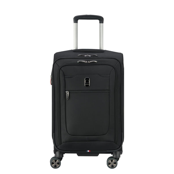 Delsey Hyperglide 19 Inch Expandable Carry-On Spinner Luggage - Black