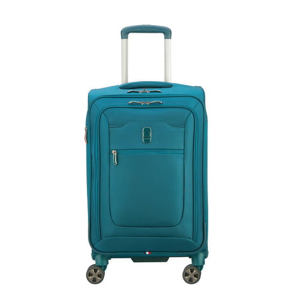 Delsey Hyperglide 19 Inch Expandable Carry-On Spinner Luggage - Teal
