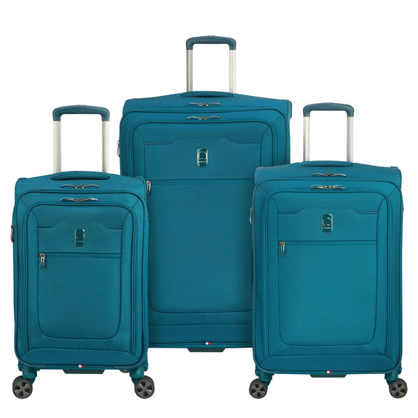 vivid and great in style the best baby Delsey Hyperglide 3 Piece Expandable Spinner Luggage Set