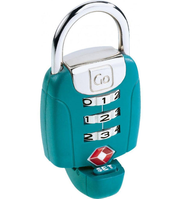 Go Travel Twist'n'Set Combination TSA Lock - Turquoise