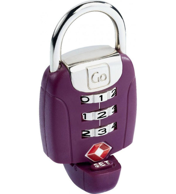 Go Travel Twist'n'Set Combination TSA Lock - Purple