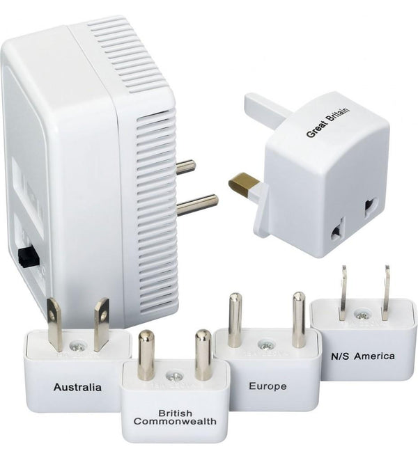 Go Travel Worldwide Adaptor Kit + Convertor - White