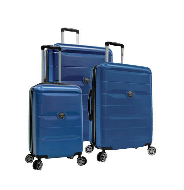 Delsey Comète 2.0 3 Piece Expandable Spinner Luggage Set - Blue