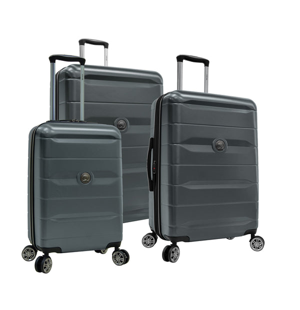 Delsey Comète 2.0 3 Piece Expandable Spinner Luggage Set - Charcoal