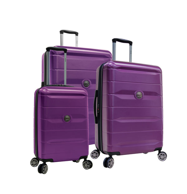 Delsey Comète 2.0 3 Piece Expandable Spinner Luggage Set - Purple
