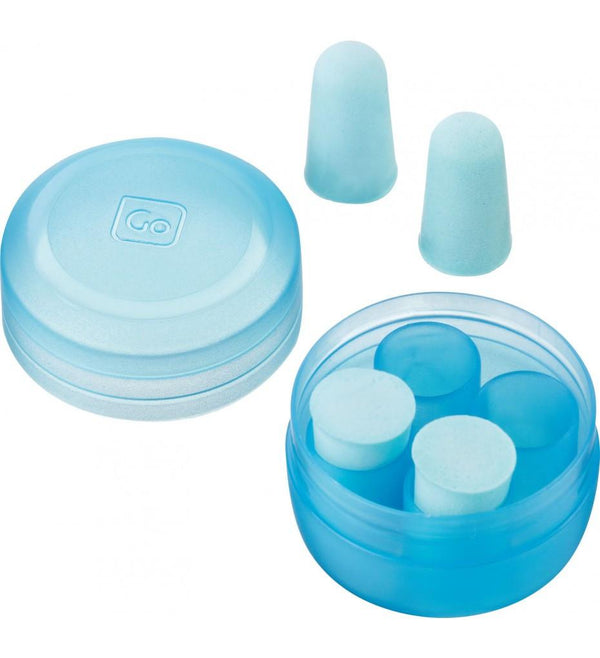 Go Travel Reusable Foam Ear Plugs - Blue