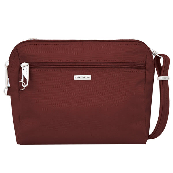Travelon Anti-Theft Classic Convertible Crossbody & Waist Pack - Wine