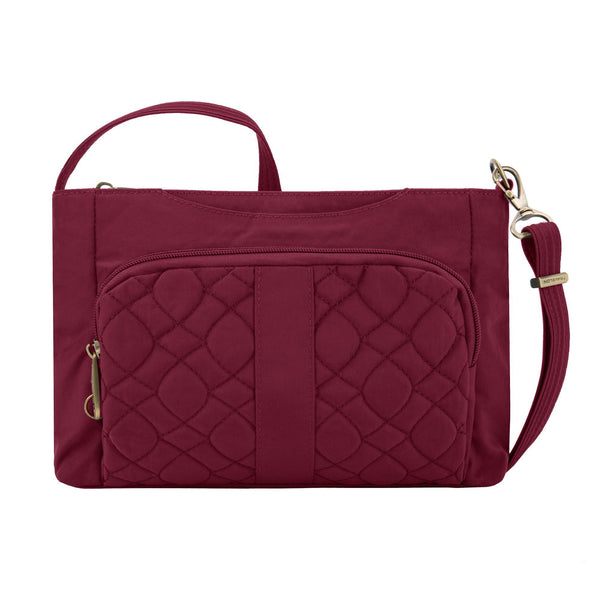 Travelon Anti-Theft Signature Quilted E/W Slim Bag - Ruby