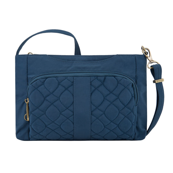 Travelon Anti-Theft Signature Quilted E/W Slim Bag - Ocean