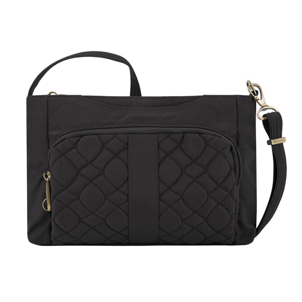 Travelon Anti-Theft Signature Quilted E/W Slim Bag - Black