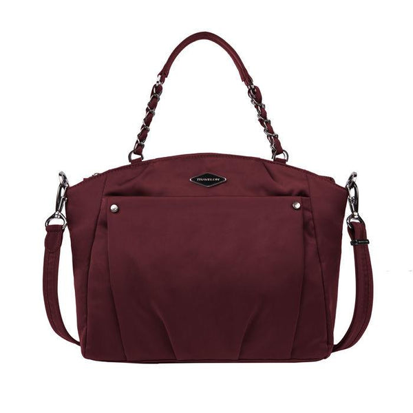 Travelon Anti-Theft Parkview Satchel Crossbody Bag - Wine