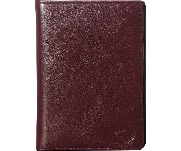 Mancini EQUESTRIAN-2 Collection Deluxe Passport Wallet - Dark Wine