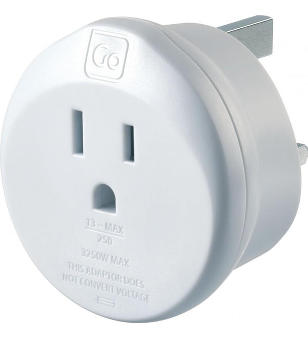 Go Travel USA-UK Adaptor - White