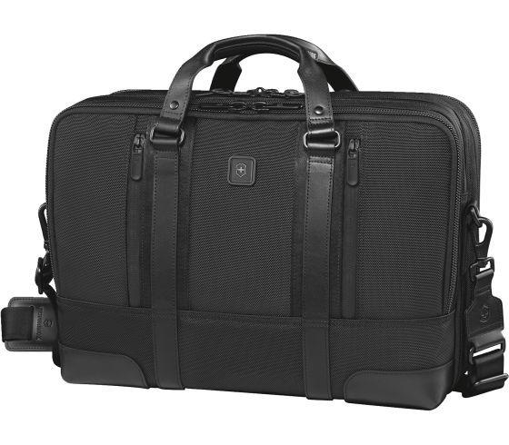 Victorinox Lexicon Professional Lexington 15 Dual-Compartment 15.6 Inch Laptop Brief - Black