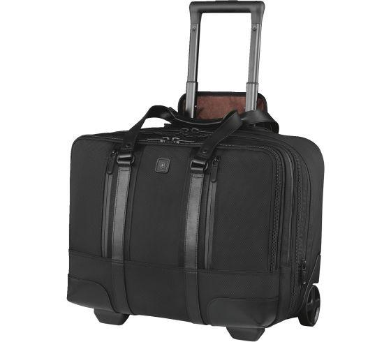 Victorinox Lexicon Professional Century Expandable Wheeled Case for 15.6 Inch Laptop - Black