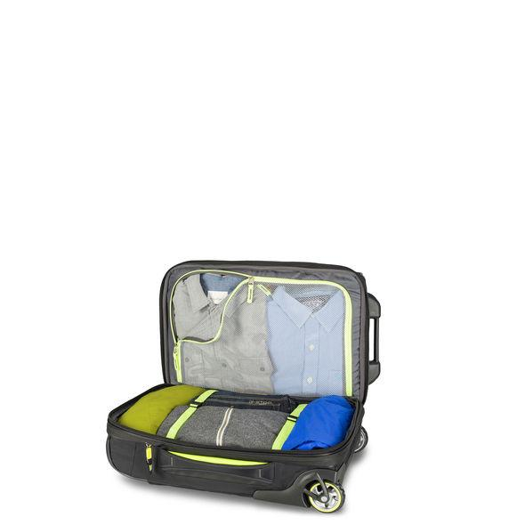 High Sierra AT8 Carry-On Wheeled Duffel Upright