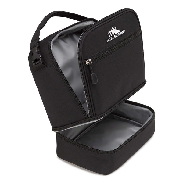 High Sierra Stacked Compartment Lunch Bag - Black