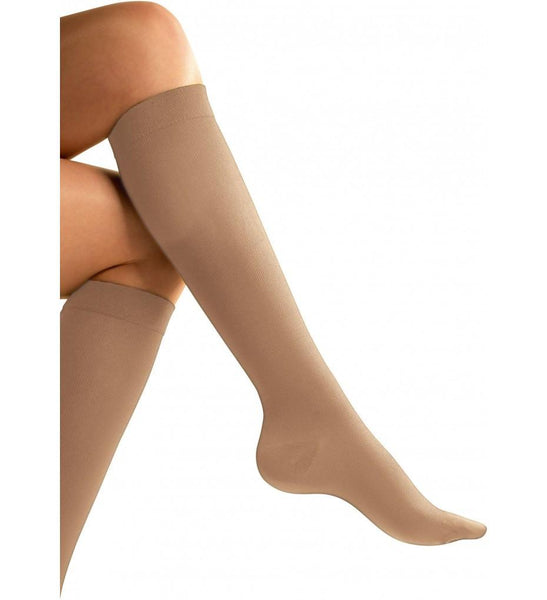 Go Travel Flight Socks - Nude