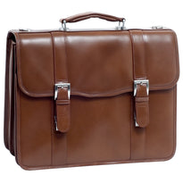 McKlein Flapover Flournoy Double Compartment Leather Laptop Case