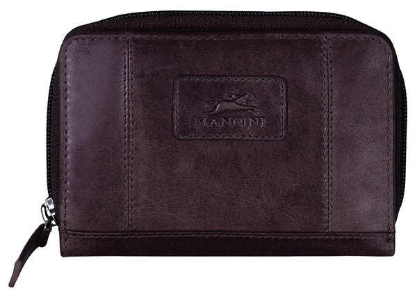 "Mancini CASABLANCA Collection Ladies' ""Clutch"" Wallet (RFID Secure) - Brown"