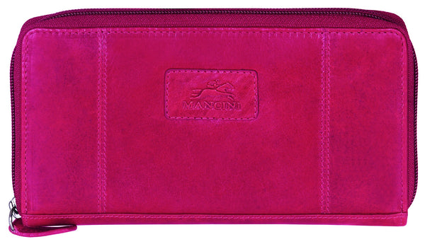 "Mancini CASABLANCA Collection Ladies' ""Clutch"" Wallet (RFID Secure) - Red"