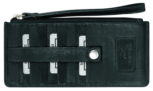 "Mancini CASABLANCA Collection Ladies' "" Wristlet"" (RFID Secure) - Black"