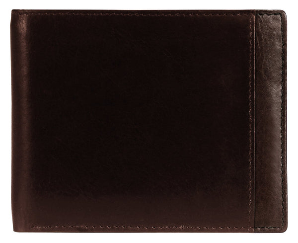 Mancini CASABLANCA Collection Men's Billfold with Removable Passcase (RFID Secure) - Brown