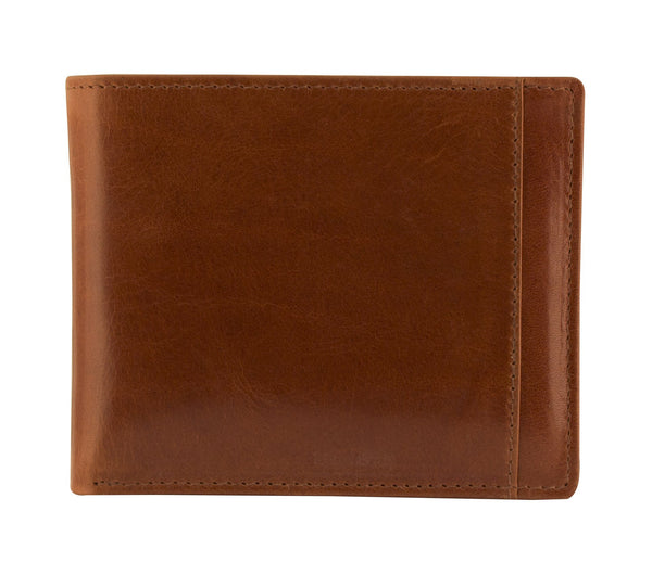 Mancini CASABLANCA Collection Men's Billfold with Removable Passcase (RFID Secure) - Cognac