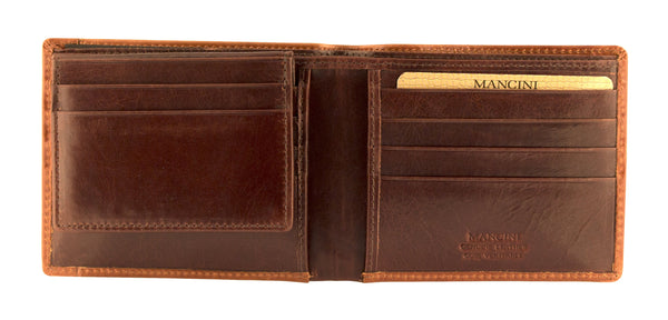 Mancini CASABLANCA Collection Men's Billfold with Removable Passcase (RFID Secure)