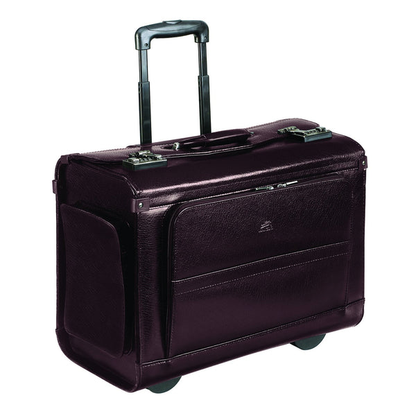 Mancini BUSINESS Collection Wheeled Catalog Case - Burgundy