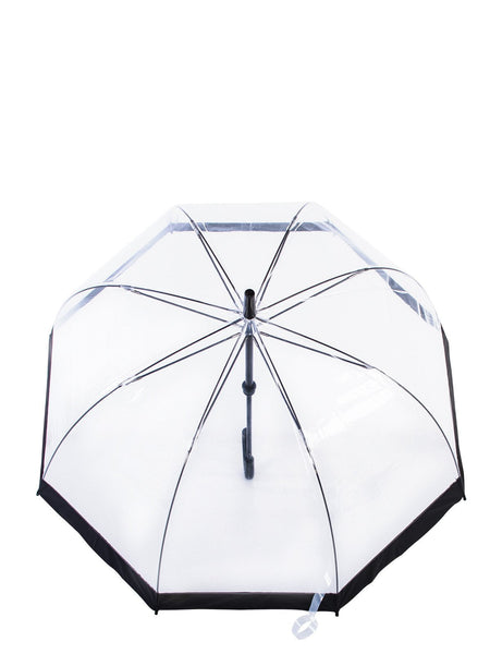 Belami Knirps Clear POE Dome Stick Umbrella With 10 cm Wide Black Border