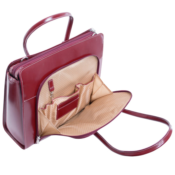 McKlein Lake Forest Ladies' Leather Briefcase with Removable Sleeve