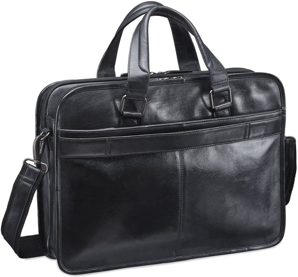 Mancini VANIZIA Collection Laptop / Tablet Compatible Triple Compartment Briefcase with RFID Secure Pocket