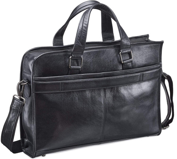 Mancini VANIZIA Collection Laptop / Tablet Compatible Single Compartment Briefcase with RFID Secure Pocket