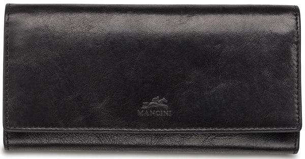Mancini BRIDGE Ladies' RFID Secure Trifold Wallet - Black