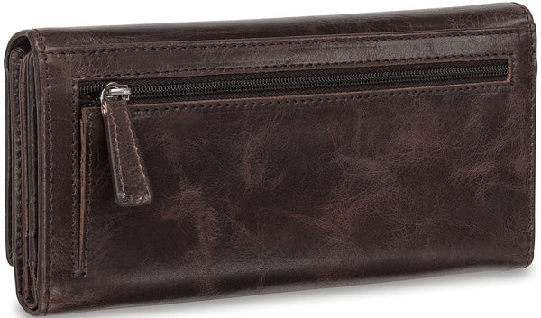 Mancini BRIDGE Ladies' RFID Secure Trifold Wallet