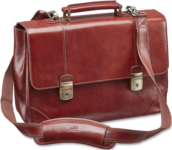 Mancini SIGNATURE Collection Laptop / Tablet Compatible Double Compartment Briefcase