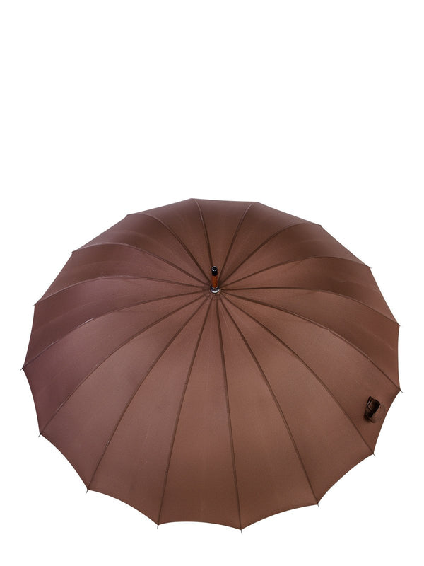 Belami by Knirps 16 Panel Stick Umbrella Wooden Handle and Shaft - Brown