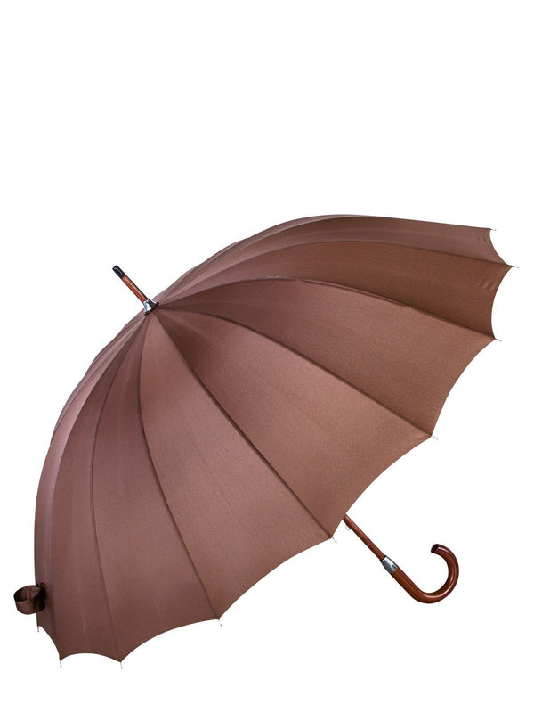 Belami by Knirps 16 Panel Stick Umbrella Wooden Handle and Shaft