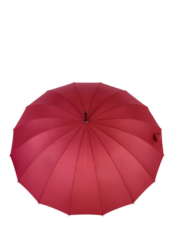 Belami by Knirps 16 Panel Stick Umbrella Wooden Handle and Shaft - Oxblood