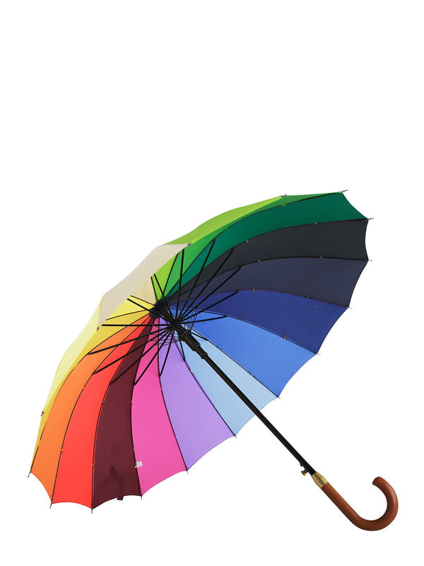 Belami by Knirps The Original 16 Panel Stick Umbrella Wooden Handle and Shaft
