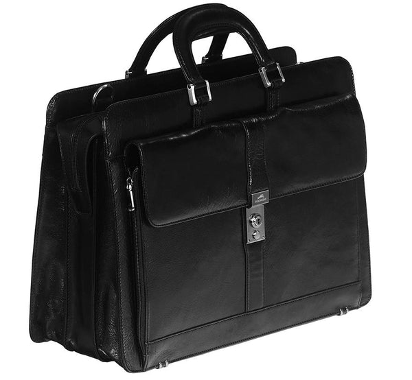 Mancini SIGNATURE Collection Briefcase for Laptop and Tablet - Black