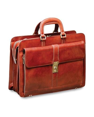 Mancini SIGNATURE Collection Briefcase for Laptop and Tablet - Brown